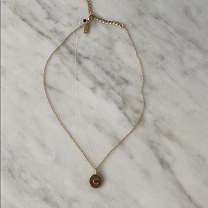 """Kate spade gold """"c"""" necklace"""
